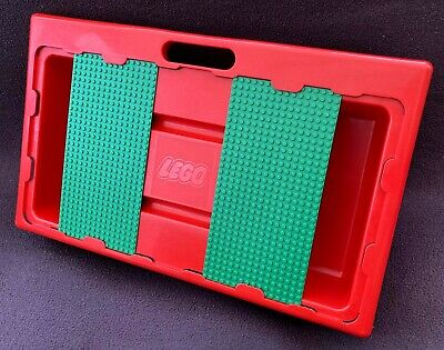 £22.95 • Buy LEGO Vintage Red Lap Table Play Tray With Sliding Storage Baseplates & Carry Hdl