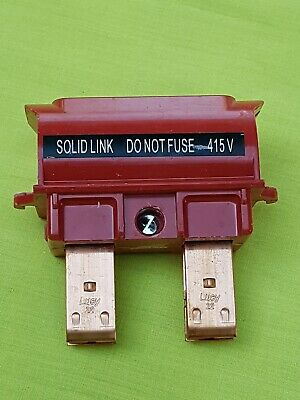 £9.95 • Buy 100a Solid Non Fused Fuse Link 415v Test House Head Service Cut Out