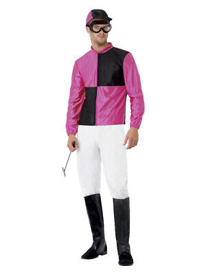 £19.99 • Buy Mens Jockey Costume Horse Riding Rider Grand National Fancy Dress Party Outfit L