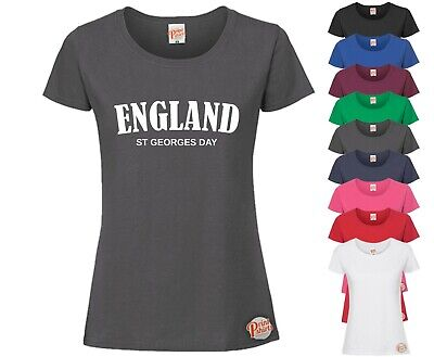 £9.99 • Buy England St, Georges Day! LADIES Funny T-Shirt, Slogan Tee Rude Joke Ideal Gift