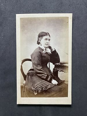Victorian Carte De Visite CDV: Lady Mourning Chain: Lowe: St John's Wood • 4.75£