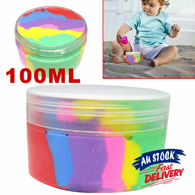 AU11.25 • Buy Rainbow Cotton Fairy Slime Kids Toy Fluffy Ice Cream Mud Stress Relief Cloud