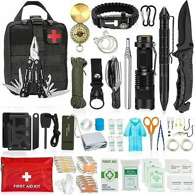$48.99 • Buy 150 In1 Survival Outdoor Kits Military Tactical EDC Emergency Gear Camping Tools
