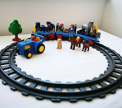 £19.99 • Buy Playmobil 1 2 3 Train & Track Tractor Figures Horses Cat Dog Tree STEM Toy EYFS