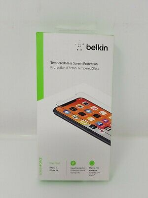 AU18.02 • Buy Belkin Tempered Glass Privacy Screen Protector For Apple IPhone 11 Pro/ XS/ X