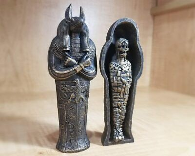 £17.90 • Buy Anubis Sarcophagus With Mummy, Ancient Egyptian Coffin, Embalming God