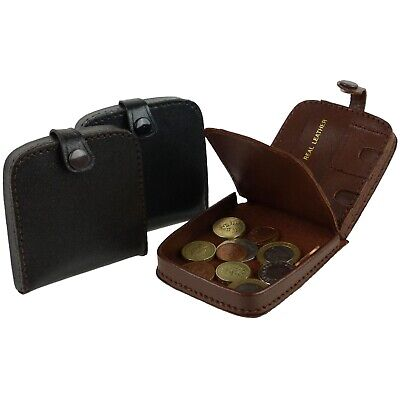 $8.31 • Buy Mens Leather Coin Tray Change Wallet Purse Square Large