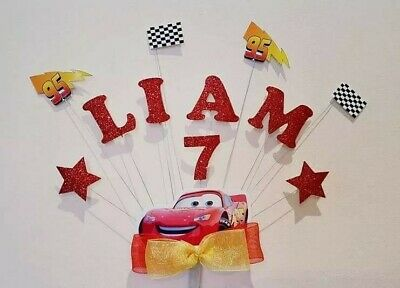 Personalised Lightning Mcqueen Birthday Cake Topper Any Name/Age • 14£