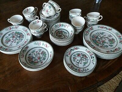 £4 • Buy SELECTION OF Johnson Bros Dinner And Tea Ware Indian Tree Pattern Gd Condition