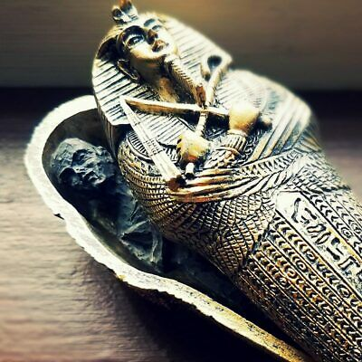 £14.68 • Buy Mummy In Coffin, Egyptian Sarcophagus With Mummy, King Tut, Oddities