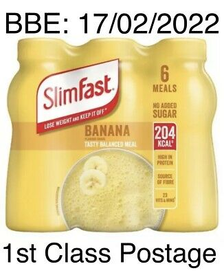 £10.99 • Buy SlimFast Ready To Drink Protein Meal Replacement Shake Banana, 6x325ml Feb 2022