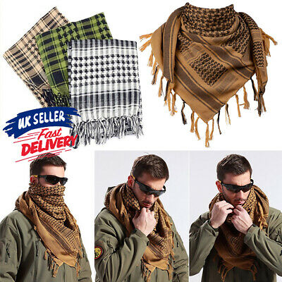 £3.29 • Buy Shemagh Arab Army Neck Scarf Tactical Face Mask KeffIyeh Palestine Military