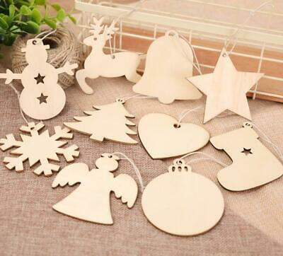 £2.79 • Buy Wooden Christmas Snowflakes Tree Decor Craft Hanging Bauble Blank Shapes Home