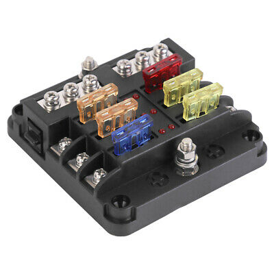 AU19.73 • Buy 6 Way Fuse Box Standard Blade Fuse Holder With Negative Bus For Car Boat