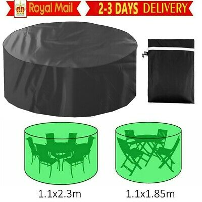 £8.99 • Buy Large Protective Outdoor Garden Patio Table Chair Set Round Furniture Cover UK
