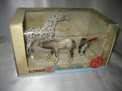 £52.36 • Buy Schleich Nature Set Appaloosa Mare And Foal With Border Collie Dog Retired Nib