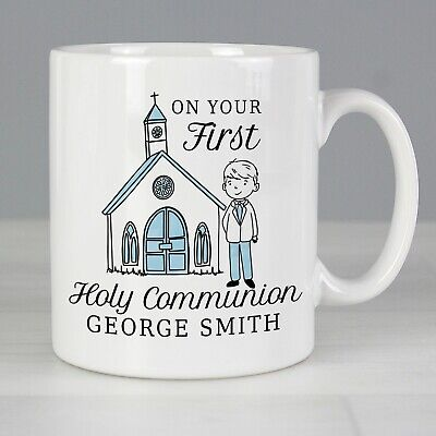 £10.99 • Buy Personalised Boys First Holy Communion Mug - Religious Gift For Her