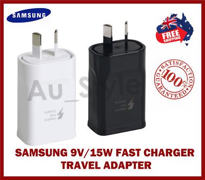 AU5.90 • Buy Genuine Samsung Fast Charger AC Wall Adapter Type-C USB C S8/S9/S10/Note 8/9/10
