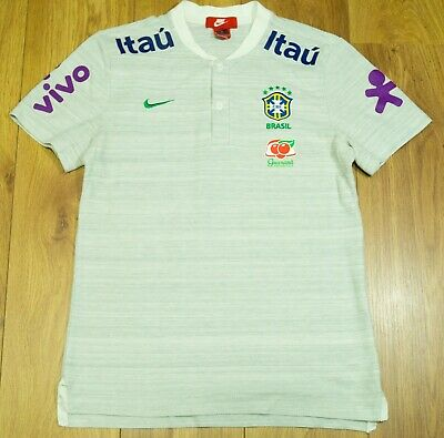 £59 • Buy Brazil 2020 Player Issue Grey Training/Travel Polo Shirt Size M