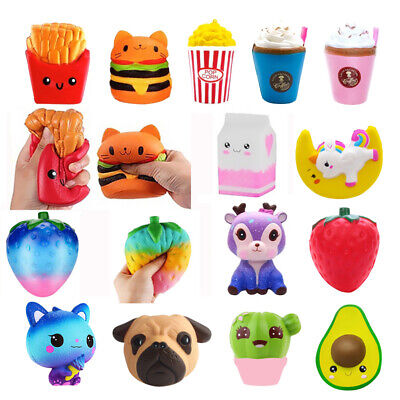 AU8.41 • Buy Jumbo Kawaii Popcorn Squeeze Toys Slow Rising Scented Antistress Kids Toys Gifts