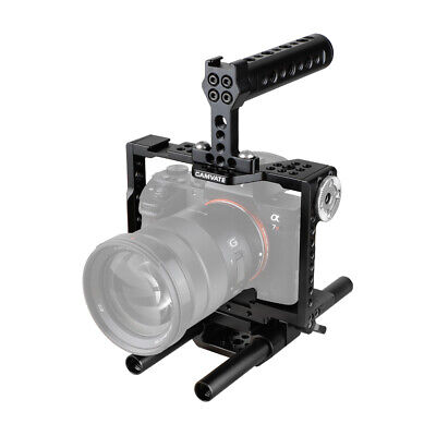 $ CDN168.93 • Buy CAMVATE Camera Cage Rig With Top Handle For Sony A7R II, A7S II, A7 III, A7R III