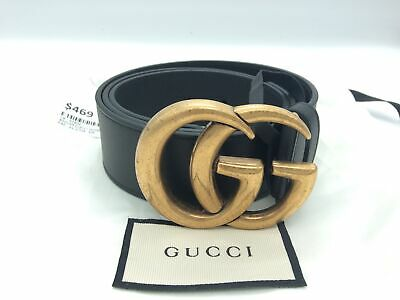 AU469 • Buy Genuine Gucci Wide Double G Belt 80/32 Size W/ Bag (400593)