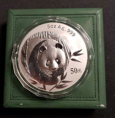 AU375.01 • Buy 2003 China 5oz Ounce 999 Silver Panda In Capsule And Box