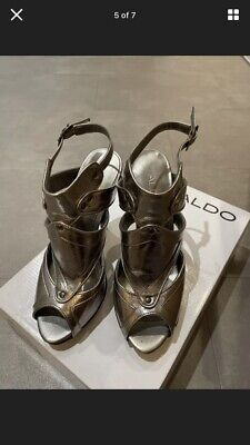 £20 • Buy ALDO High Heel Shoes Pewter/Silver Size 5