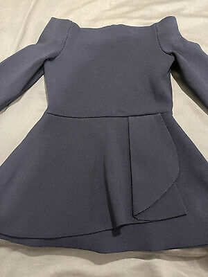 AU99 • Buy Scanlan Theodore Crepe Knit XS Navy Cold Shoulder Long Sleeve Top