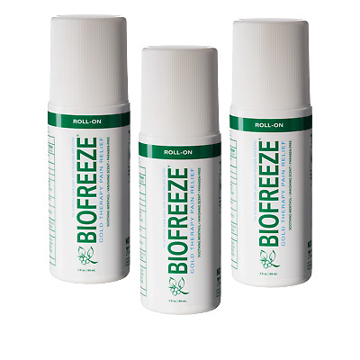 £20.75 • Buy Biofreeze Pain Relieving Gel Roll On - 89ml - Pack Of 3