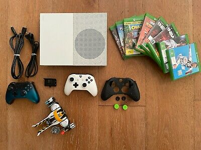 AU255 • Buy Microsoft Xbox One S 500GB White Gaming Console With Lots Of Extras!!