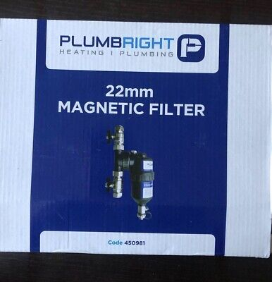 £34.99 • Buy PlumbRight 22mm Magnetic Central Heating Filter 450981