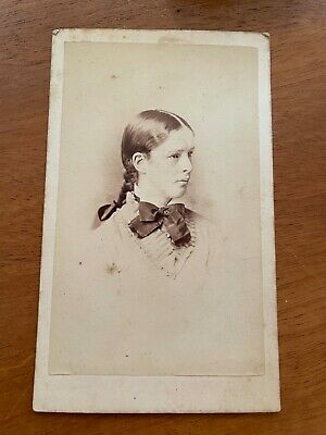 An Anonymous Carte De Visite Of A Young Lady Wearing A Large Bow. • 1£