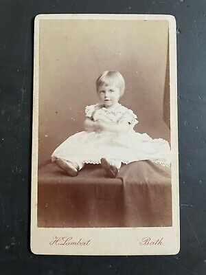 A Carte De Visite Of A Child By H. Lambert  - Named On The Reverse. • 2£