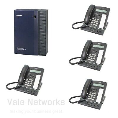 £150 • Buy Panasonic KX-TDA30 Telephone System With 4 ISDN2 And 4 Phones With Side Cover