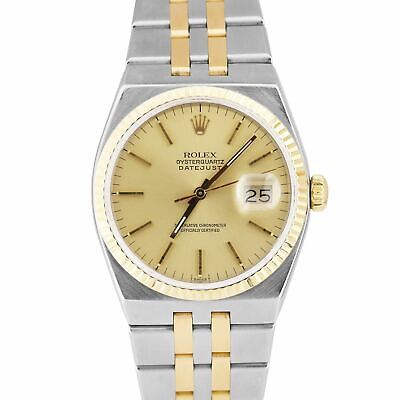 $ CDN5451.22 • Buy Vintage 1986 Rolex Oysterquartz DateJust Two-Tone Yellow Gold Integral 17013