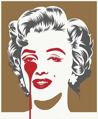 £200 • Buy Pure Evil - Marilyn Classic (Gold And Grey) Print