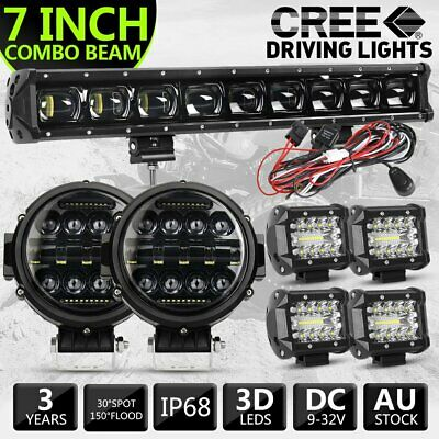 AU209.99 • Buy Pair 7inch LED Driving Lights Round Spotlights 4 /21  LED Work Light Bar Offroad