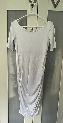 AU15 • Buy Asos White Maternity Dress Size 8