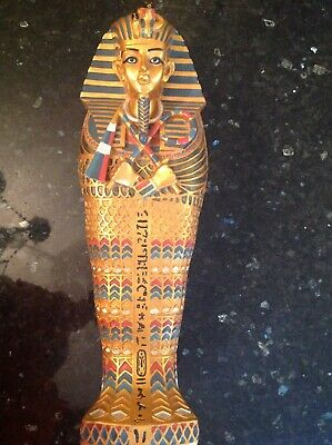 £225 • Buy Egyptian Sarcophagus Hand Made From Egypt With Mummy 21  Tall And Weighs 6.12kgs