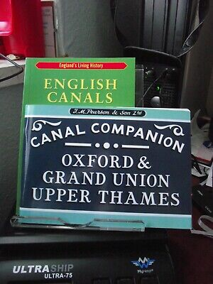 2 Paperback Books On Canals Oxford & Grand Union Upper Thames Canal  • 6£