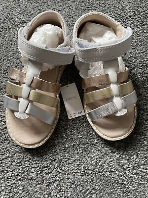 Girls Next Gladiator Sandals Size 9 NEW Rose Gold And White • 3.20£