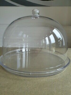 Jolly Bakery 24cm Diameter Crystal Clear Acrylic Cake Dome With Tray • 6£