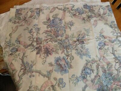 $16 • Buy F.M.R. Original For Kenmilll Screen Print Cotton Fabric 1989 Floral 54  X 70
