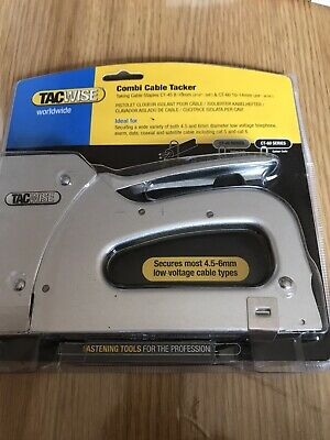 £25 • Buy Tacwise Combi Cable Tacker Stapler Hand Staple Gun Ideal For CT45 CT60 Coax 1153