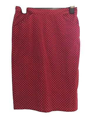 £14 • Buy Topshop Size 8 Skirt Red And White Polka Dot Excellent Condition
