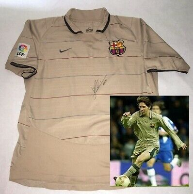 AU965.93 • Buy LIONEL MESSI Hand Signed Autographed RARE 2003 Debut Barcelona Jersey