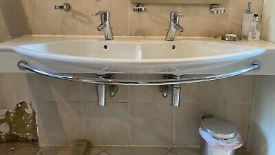 £170 • Buy Laufen Palace 1500 Double Washbasin, Grohe Tap, Towel Bar Include Good Condition
