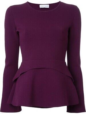 AU300 • Buy Scanlan Theodore Crepe Knit Tailored Top Mulberry Purple S