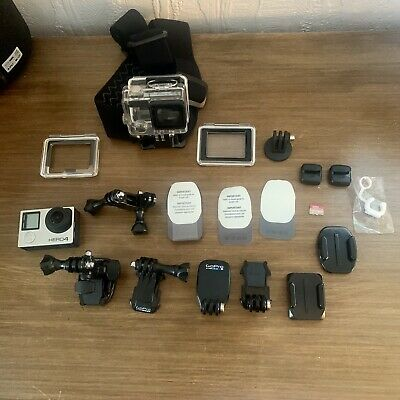 AU91.23 • Buy GoPro Hero 4 Silver Edition - Touch Screen - Bundle